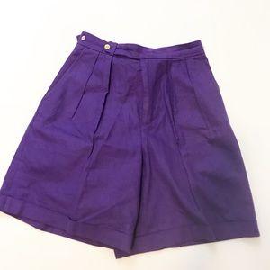 ralph lauren vintage high waisted shorts linen